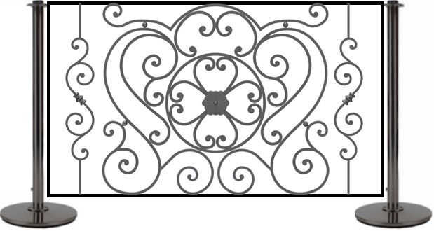 Wrought Iron Cafe Panel