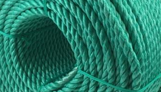 Green barrier rope