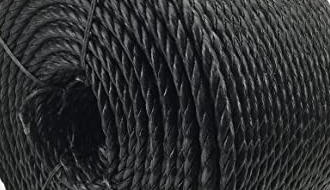 Black barrier rope
