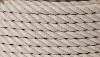 White barrier rope