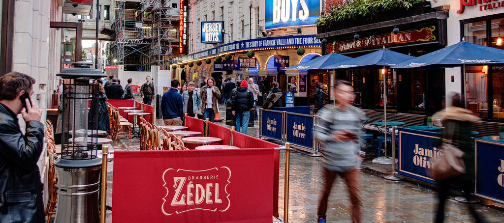 Cafe Barriers at Zedel West End